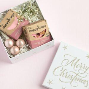 Happysoaps shampoobar gitbox cadeaubox kerstmis