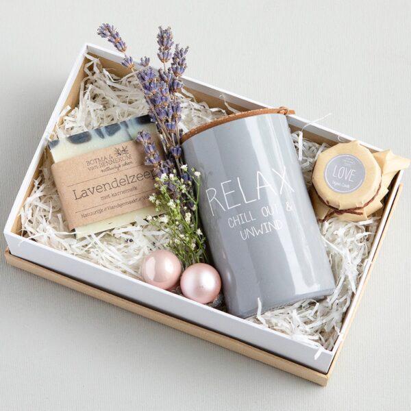 Giftbox kaars cadeau kerstkado