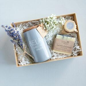 Me-time giftbox relax sojakaars my flame lifestyle botma van Bennekom natuurlijke gifts