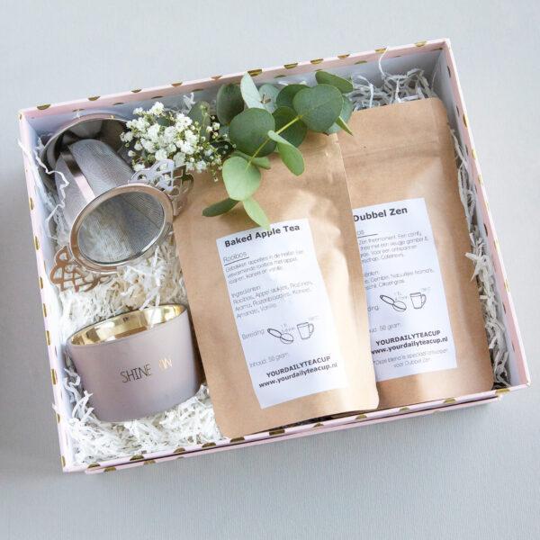 my flame lifestyle shine geur kaars thee you're daily tea cup schoonheidssalon Leonie Nieuwstadt