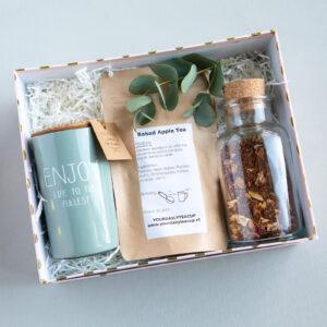 mooie natuurlijke giftbox thee geur kaars my flame lifestyle enjoy